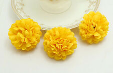100pcs/Lot Wholesale Yellow NEW Daisy Artificial Silk Flower Heads Wedding