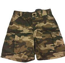 Carhatt Boys Brown Camo Cargo Shorts (CH8250)