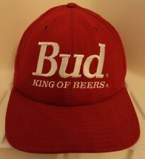 BUD KING OF BEERS ~ Embroidered Red Hat Cap ~ Budweiser