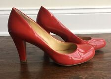 GIANNI BINI RED PUMPS HEELS SIZE 8M Closed Toe