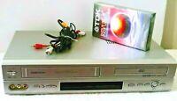 Daewoo DV-6T955B DVD/VCR Combo VHS Player 4 Head HiFi Stereo No Remote Tested