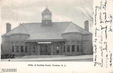 Philadelphia & Reading Railroad Depot, Trenton, New Jersey 1906 Vintage Postcard