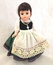 "Madame Alexander 8"" Brunette Multi Dress Apron Shoes Etc"