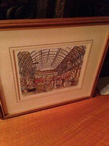 Vintage Covent Garden London Limited Fine Art Print Framed [Signed] England