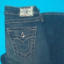 26 x 35 in.  PRE-Owned TRUE RELIGION $297 SKINNY PINK DISCO Crystal  JEANS