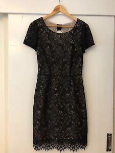 Portmans Size 10 Black Lace Dress