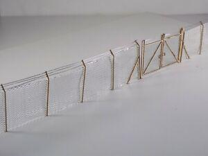 10ft chain link security fencing - 36 posts & 2 gates OO gauge 1:76 model kit