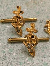 Vintage Masonic cuff links gold tone shriner masonry jewelry