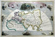 THE WORLD VETERIS ORBIS  BY CELLARIUS  c1703 GENUINE ANTIQUE ENGRAVED MAP