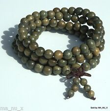 Aromatic Green Sandalwood Mala Beads - Tibetan Buddhism Traditional 108 Count