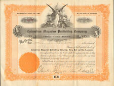 Columbian Magazine Publishing Company > 1910 stock certificate share
