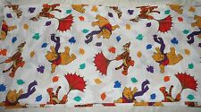"Winnie The Pooh and Tiger  Blustery Day Balloon Valance 17""x80""  - excellent,"