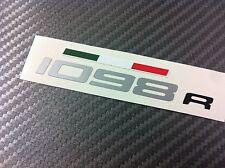 1 Adesivo Stickers DUCATI 1098R fianchetto serbatoio con bandiera tricolore