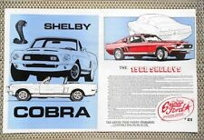 1968 SHELBY COBRA MUSTANG GT 350 GT 500 GT 500 KR CAR LITERATURE FACT SHEET 21