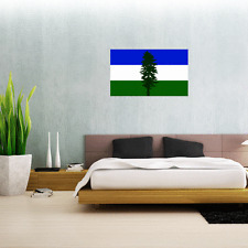 "Cascadia Flag Wall Decal Large Vinyl Sticker 25"" x 15"""