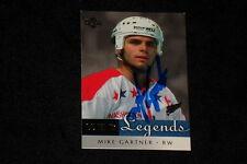 HOF MIKE GARTNER 2001-02 UD LEGENDS SIGNED AUTOGRAPHED CARD #68 CAPITALS