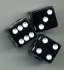 3 Pack Dice Control Knobs BLACK Duesenberg Guitar Volume Tone + FREE 3pak!
