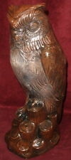 "Large Vintage Owl Statue 15"" Home Garden Sculpture"