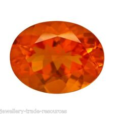 Natural Fire Opal 9mm x 7mm Oval Cut Orange Gem Gemstone