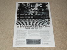 Pioneer SPEC Equalizer Ad, 1978, SG9500, 1 pg, Article, Very Rare!