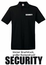 10 Stck. SECURITY - Polo-Shirt, schwarz, Gr. S - XXXL