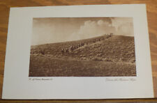 1913 Antique Print///DOWN THE WESTERN SLOPE (LINE OF HORSE-BACK RIDERS)