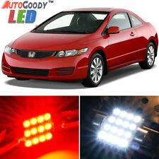 8 x Premium Red LED Lights Interior Package Kit for Honda Civic 2006-2012