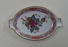 HEREND AF CHINESE BOUQUET Apponyi Fleur Decor Vintage Porcelain PEONY ASHTRAY