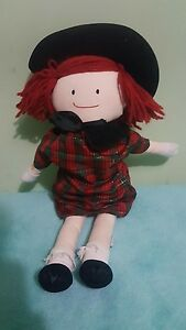 """Madeline Plush Doll Vintage 1990 Christmas outfit with hat Eden 21"""" (111)"""