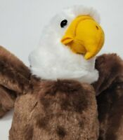 "ADVENTURE PLANET EAGLE PLUSH 10"" TALL STUFFED ANIMAL TOY BROWN WHITE YELLOW"
