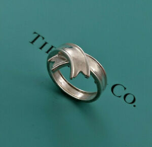 Tiffany & Co. RARE Ribbon Bow Ring, Sterling Silver 925, Size 6