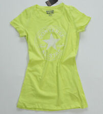 NUEVO All Star Converse Camiseta para señoras Camisa Chucks Amarillo Neón Talla: