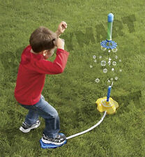 POP-UP Flying Air Rocket with Bubbles Maker Outdoor Toy - HOURS OF FUN -RM2808