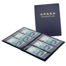 More details for 60 pockets soft leather notes album banknote paper money collection stamps book