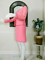GIANNI VERSACE COUTURE WOMENS DESIGNER SUIT~STUNNING PINK~VTG.MOVIE~Italy sz.46