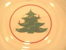4 Christmas Tree Glass Salad Dessert Plates Waechtersbach NEW