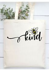 Bee kind mental health awareness tote shopping shoulder handle bag