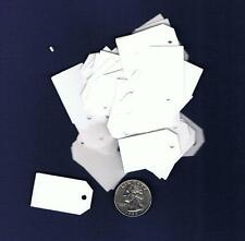 100 Small Blank Handmade Gift Price Tags White Cardstock Hang
