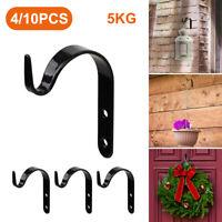 10Pcs Indoor Metal Hanging Plant Hooks Basket Brackets Outdoor Garden Wall Decor