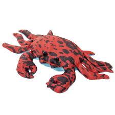 SANDTIER KRABBE mittelgroß 22 cm breit Stofftier Rot - Schwarz Dekoration NEU!