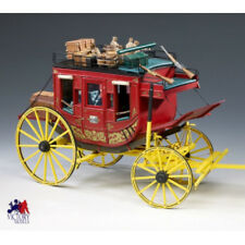 "Intricately Detailed Wooden Model Kit by Amati: ""Diligenza Stage Coach"""