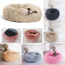 UK Pet Dog Cat Calming Bed Soft Plush Round Nest Sleeping Kennel Cave 40/60/80cm