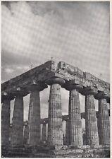 D7900 I Templi Dorici di Paestum - Stampa d'epoca - 1937 vintage print