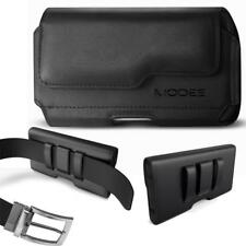 Leather Pouch Holster Carrying Case Cover with Belt Clip Loop - Business Style