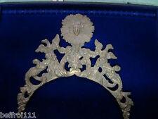 Fronton coq 18e réplique 19,5 cm lanterne horloge comtoise uhr clock Morbier n49