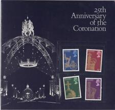 GB 1978 ANNIVERSARY CORONATION SOUVENIR BOOK SG 1059 1062 MINT STAMP SET INCLUDE