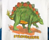 NOS vintage 80s STEGOSAURUS CARTOON DINOSAUR T-Shirt M/L jurassic park pop thin