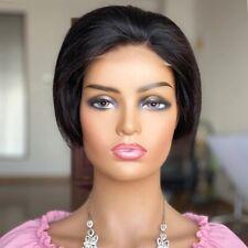 100% Human Hair Pixie Cut Wig 4x4 Lace Closure