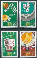 Macau - Glücksspiele Satz postfrisch 1987 Mi. 579-582