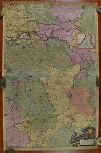 Alexis Jaillot Map of the River Meuse Belgium Page 1 1696 Cours de la Meuse